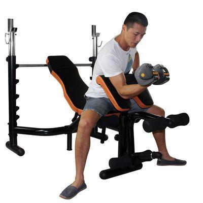 雷克多功能卧推架举重床杠铃架家商用深蹲架套装杠铃训练健身器材