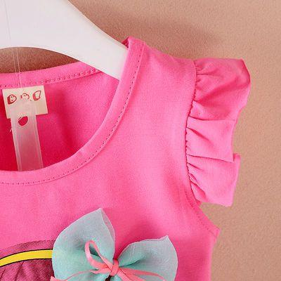 女童夏装0一1-2-3岁女宝宝夏装套装背心短裤婴儿衣服6-9-12个