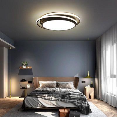 北欧现代简约个性创意客厅餐厅书房卧室灯大气温馨LED圆形吸顶灯