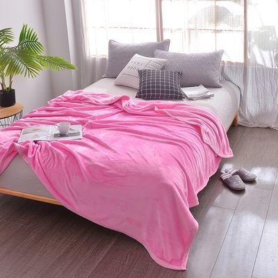 爆款冬季纯色毛毯珊瑚绒床单单件加厚法兰绒学生宿舍午睡毯夏季空