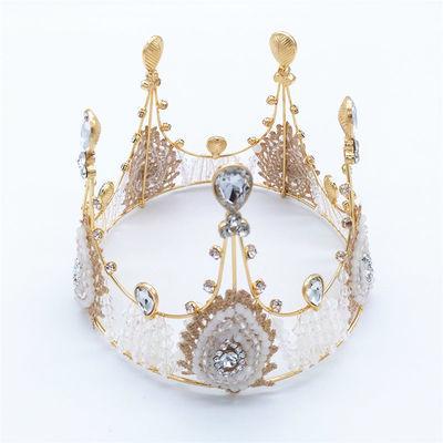 蛋糕装饰摆件 手工珍珠皇冠蛋糕装饰超闪带灯高贵珍珠皇冠装饰
