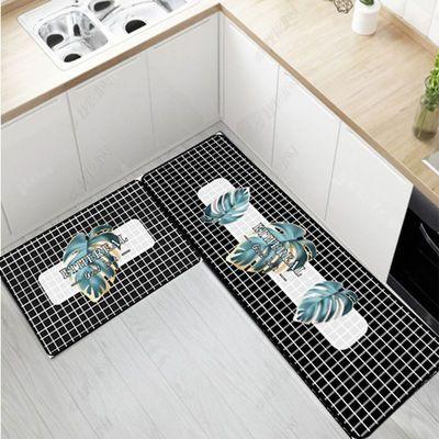 厨房地垫吸水吸油防滑防油防水脚垫进门垫家用简约现代长条形地垫