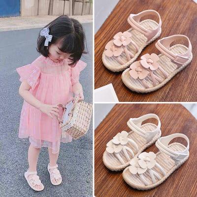 夏季女童凉鞋婴幼儿学步鞋2020新款女宝宝凉鞋软底小孩鞋子公主鞋