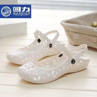 回力洞洞鞋女鏤空包頭白色兩穿護士鞋涼鞋塑料軟底防滑上班工作鞋