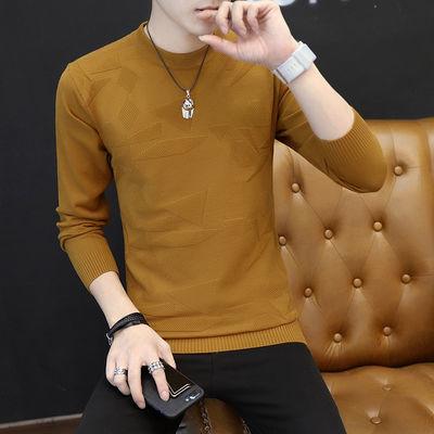 春季新款男士毛衣韩版修身圆领针织衫春秋线衣上衣长袖t恤打底衫