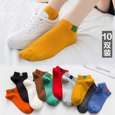 5-10双装袜子女中筒韩版ins原宿风男士船袜学生透气吸汗情侣短袜