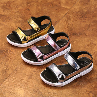 儿童凉鞋女夏季水晶高跟小孩公主新款韩版结十二星座七岁子春