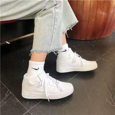 空军一号男女高低帮经典ins板鞋情侣运动鞋小麦色百搭运动板鞋