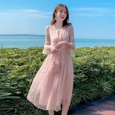 维品会名牌女装2020年新款夏季高档桑蚕丝优雅连衣裙淑女真丝长裙