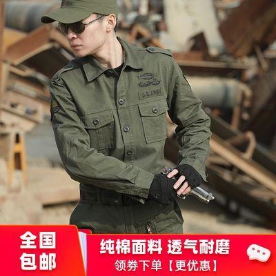 101空降师迷彩服套装男特种兵作训军工纯棉耐磨修身工作服女春季
