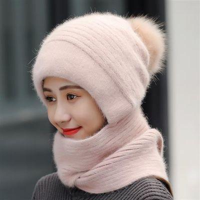 帽子女冬季加绒加厚针织毛线帽韩版学生百搭保暖月子帽潮骑车防风