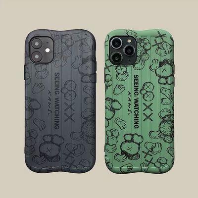 潮牌kaws苹果XsMax全包iPhone11ProMax手机壳8plus个性XR软壳7P男