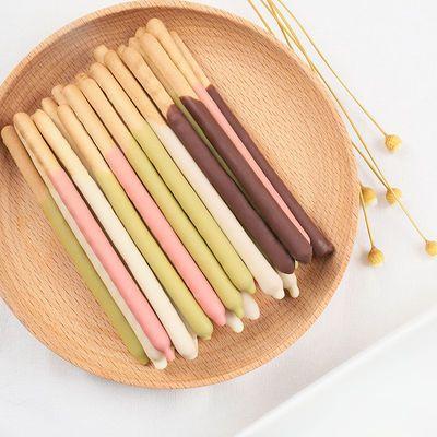 巧克力棒涂层手指饼干好吃的儿童休闲小零食小吃整箱散装批发10袋
