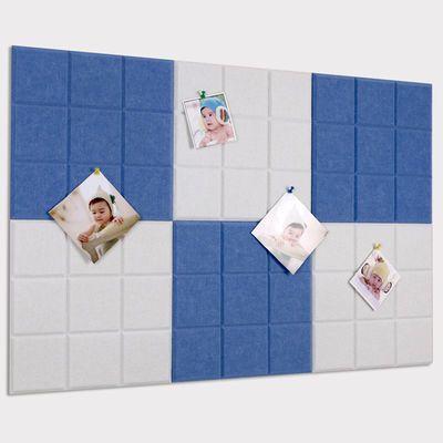 北欧小方格毛毡板自粘墙贴照片墙家用留言板便签记事板软木图钉板