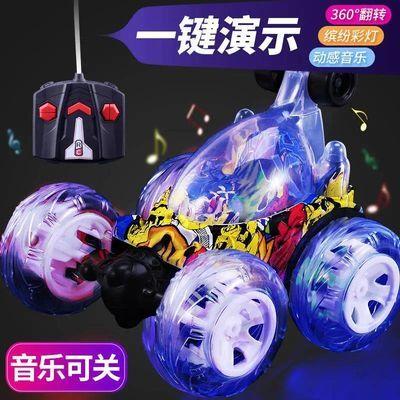 音乐充电版特技翻斗车翻滚车遥控汽车充电动赛车儿童玩具车男孩
