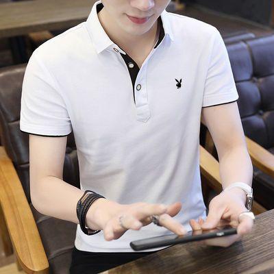 爆款花花公子VIP夏季男装T恤青少年学生纯棉休闲短袖t恤韩版修身