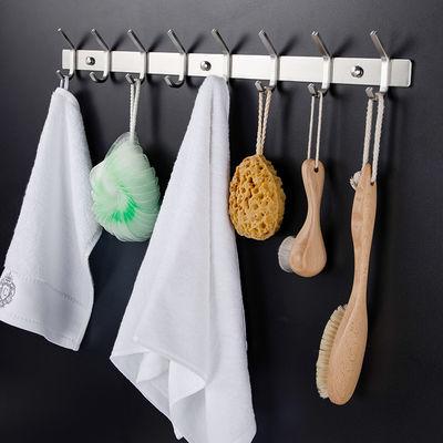 不锈钢挂衣钩壁挂式墙壁卫生间试衣间门后挂钩毛巾排钩衣钩免打孔