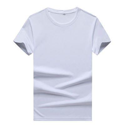 新款品质男士短袖T韩版圆领修身半袖纯色打底男装