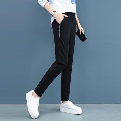 长裤/九分/七分夏季薄款宽松哈伦直筒韩版运动女裤高腰显瘦休闲裤