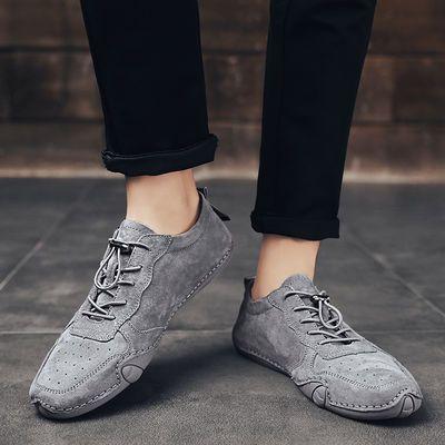 新款巧乐虎流行男鞋舒适运动鞋休闲透气真皮八爪鱼鞋个性韩版豆豆