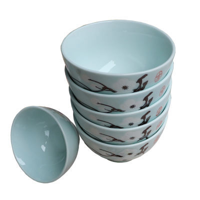 简约陶瓷碗盘套装家用釉下彩吃饭碗青瓷饭碗景德镇陶瓷泡面碗中式