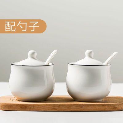 装盐罐单个家用带盖陶瓷调味罐猪油罐放盐调味盒仿古辣椒油罐家用