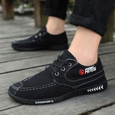 老北京布鞋男士百搭透气防臭帆布鞋男春季工作鞋韩版潮流休闲布鞋