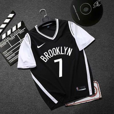 假两件球衣11欧文詹姆斯男女定制NBA篮球服篮网湖人短袖套装队服