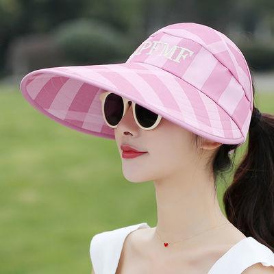 帽子女夏季韩版太阳帽女户外防晒帽子时尚遮阳帽休闲空顶帽女凉帽