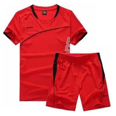 爆款男装秋冬运动套装男短裤两件套男士短袖t恤运动服休闲裤宽松