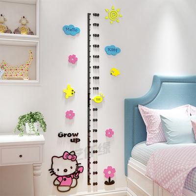 3d立体身高墙贴宝宝量身高尺可移除儿童房布置装饰自粘亚克力贴画