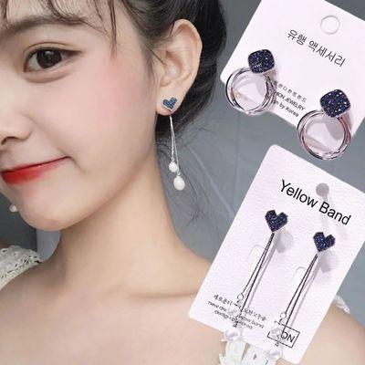 韩国气质仙女耳饰百搭耳环女长款流苏气质耳钉女镶钻高级感珍珠