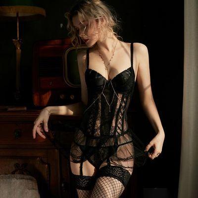 性感情趣内衣透明蕾丝小胸显大聚拢睡衣激情套装超骚服装火辣诱惑