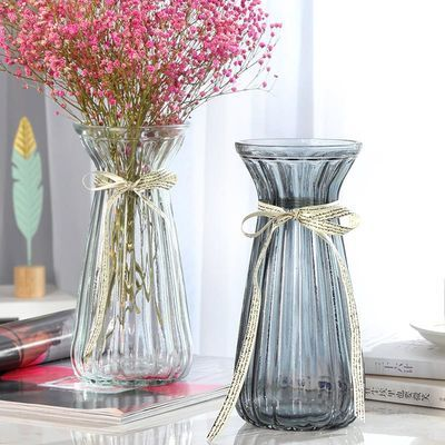 新品创意玻璃透明花瓶欧式水培绿萝植物花瓶百合富贵竹插花瓶干花
