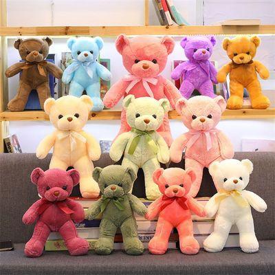 91171/可爱彩色泰迪熊毛绒玩具公仔儿童抱抱熊玩偶布娃娃抱枕女生日礼物