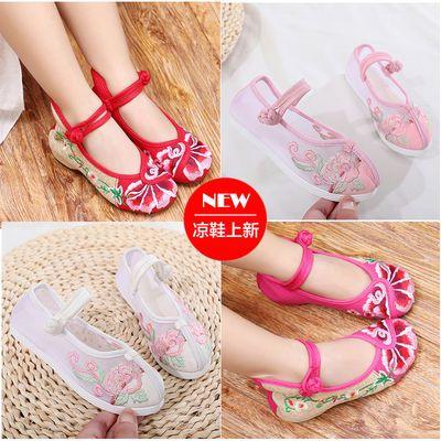 女童古装鞋绣花鞋宝宝中国风童鞋民族儿童汉服鞋古风北京布鞋棉靴