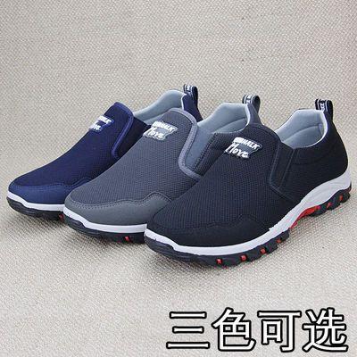 2020男士老北京布鞋帆布鞋男透气软底父亲一脚蹬中老年人休闲工作