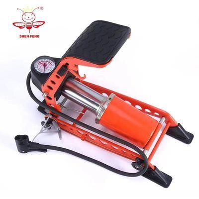 FENG脚踩打气筒低压高压车载汽车充气泵自行车摩托车电瓶车
