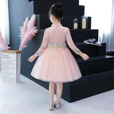 女童连衣裙秋裙春秋洋气韩版女孩纱裙夏款裙子儿童长袖蓬蓬公主裙