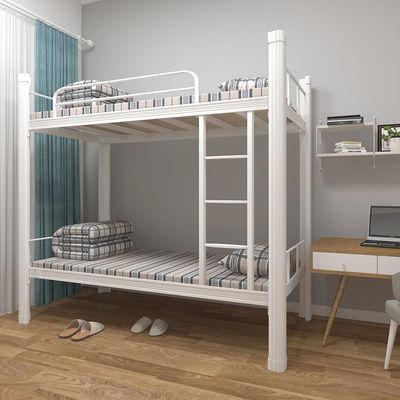 高低床铁床双层床员工上下铺学生床宿舍寝室铁艺床钢架床工地床