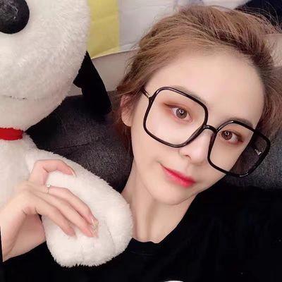 近视眼镜女网红款防辐射抗蓝光平光镜可配有度数眼睛框韩版潮大脸