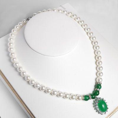 珍珠项链饰品现货深海贝壳珍珠项链圆玛瑙母亲节礼物时尚高雅项链