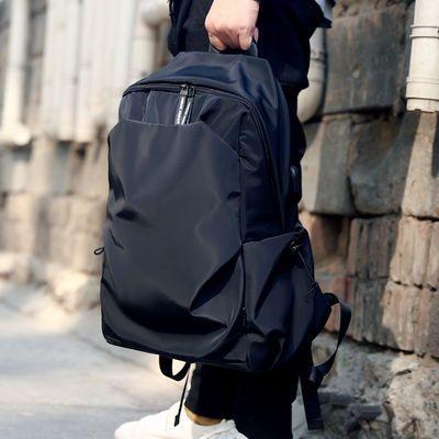 电脑双肩包男青年时尚潮流书包运动旅行轻便休闲简约商务男士背包