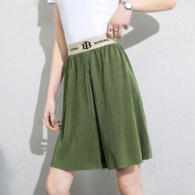 宽松短裤女夏季薄款高腰垂感阔腿裤新款外穿雪纺韩版五分裤裙裤