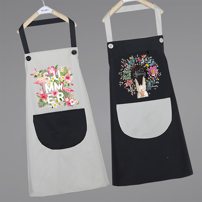 围裙可爱日系女时尚家用男做饭厨房北欧风防水防油工作服韩版定制