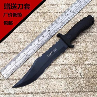 户外特战术高硬度直刀锋利荒野野外求生军刀随身防身水果刀具小刀