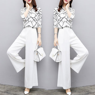 40313/【单件/套装】阔腿裤套装女新款夏季时尚休闲气质两件套装
