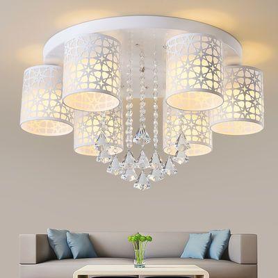 客厅灯具led圆形吸顶灯卧室灯现代简约全屋套餐厅吊灯房间水晶灯