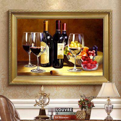 葡萄美酒水果酒杯满钻餐厅5D圆钻钻石十字绣钻石画贴钻砖石秀点钻