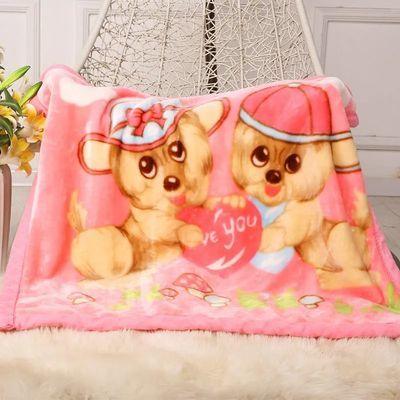 新生婴儿毛毯双层面绒云毯小孩春夏秋冬四季儿童抱被子幼儿园盖毯